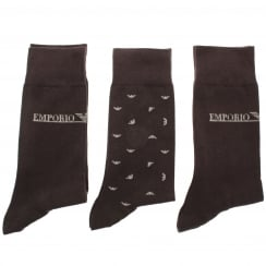 Emporio Armani 302402 6P292 3 Pack Of Socks