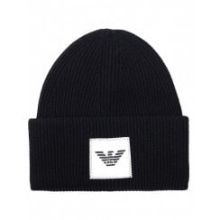 Emporio Armani 6G1405 Eagle Patch Beanie Hat