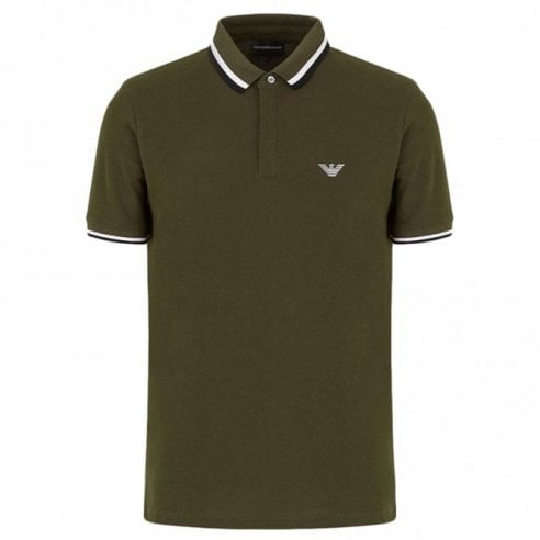 Emporio Armani 6G1FA5 Trim Collar Polo Shirt