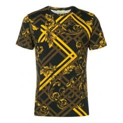 Versace Jeans Baroque Check Jersey T-Shirt