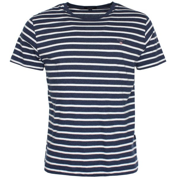 gant breton stripe t shirt gant from the menswear site uk. Black Bedroom Furniture Sets. Home Design Ideas