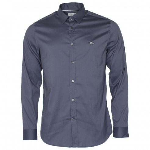 Lacoste CH2561 City Stretch Solid Poplin Shirt