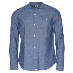 Pretty Green Collarless Shirt