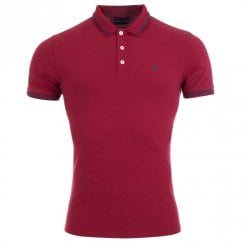 Emporio Armani Eagle Logo Tipped Polo Shirt