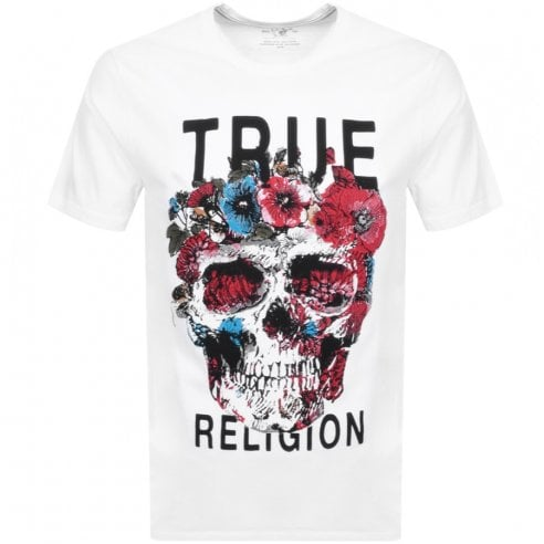 True Religion Floral Skull T-Shirt