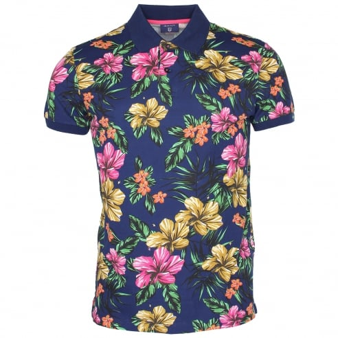 Gant Flower Polo T-Shirt