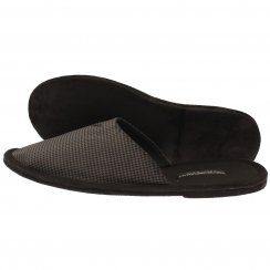 Emporio Armani Houndstooth Mule Slippers