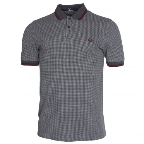 Fred Perry Houndstooth Polo