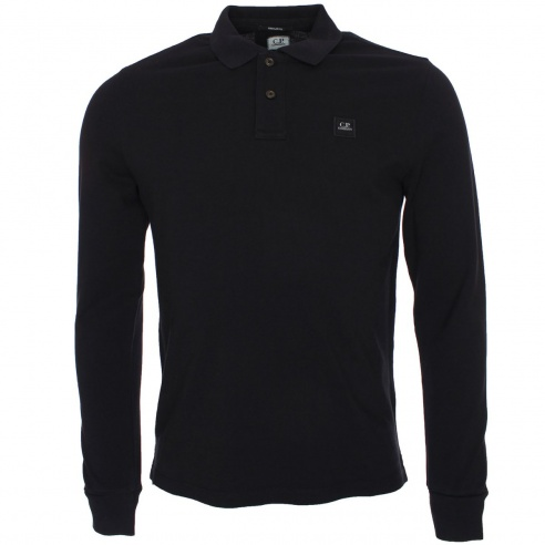C.P. Company Long Sleeve Pique Polo T-Shirt