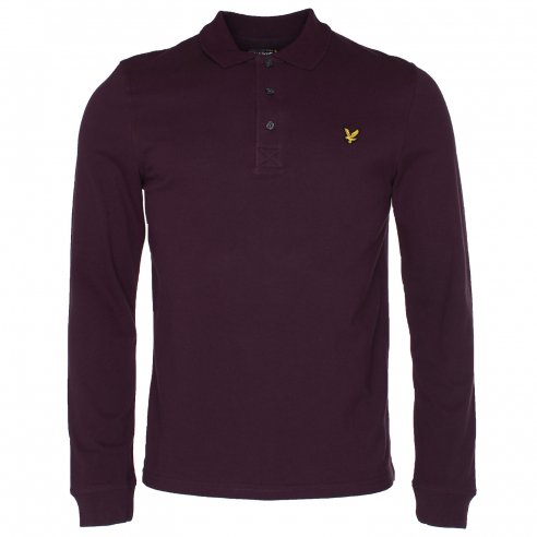 Lyle & Scott Long Sleeve Pique Polo T-Shirt