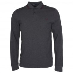 Fred Perry Long Sleeved Tipped Polo