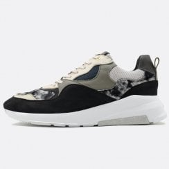 Android Homme Malibu Runner Navy Suede Trainers