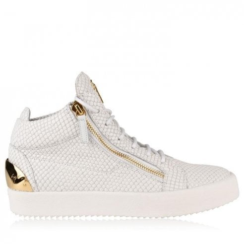 May London Snake Mid Top Trainers