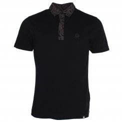 Pretty Green Moss Paisley Collar Polo T-Shirt