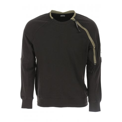 C.P. Company MSS002A Zip Shoulder Sweat