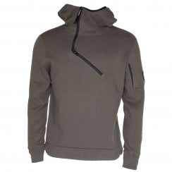 C.P. Company MSS051A Zip Neck Hooded Sweat