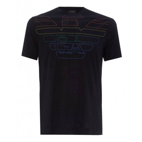 Emporio Armani Multi Colour Eagle Graphic Logo T-Shirt