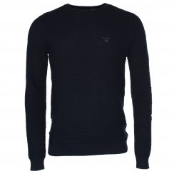 Gant N. Textured Cotton Crew
