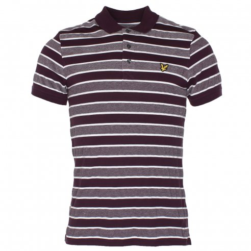 Lyle & Scott Oxford Engineered Stripe Polo T-Shirt