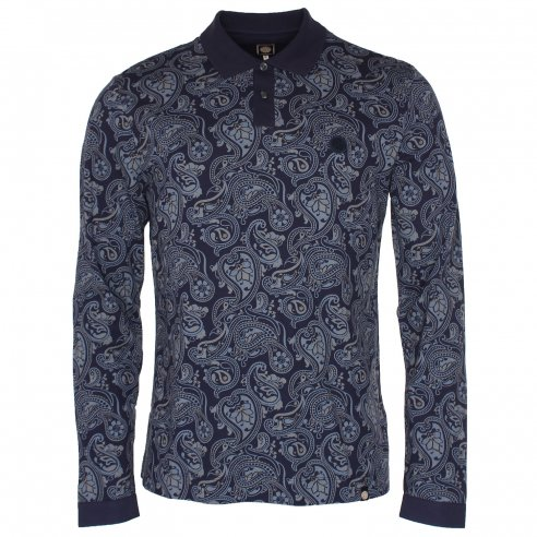 Pretty Green Paisley Polo T-Shirt