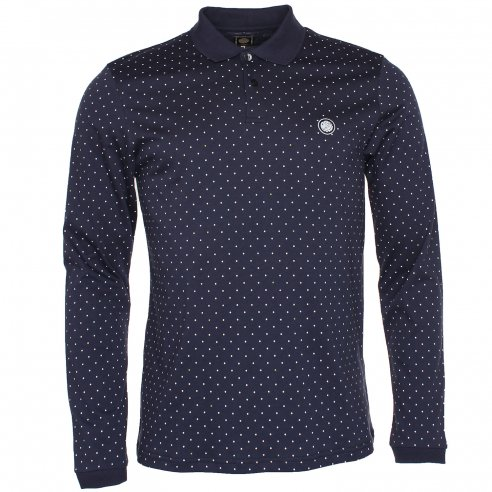 Pretty Green Polka LS Polo T-Shirt