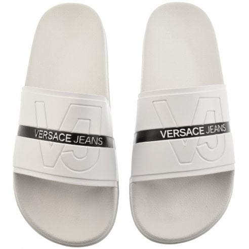 1cd4caa86e63 Versace Jeans Crossover Strap Flip Flops - Versace Jeans from The ...