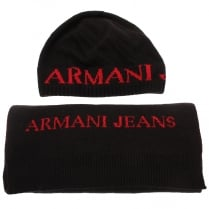 Armani Jeans 06806 Hat & Scarf Gift Set