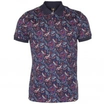 Pretty Green Sefton Print Polo T-Shirt