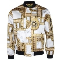 Versace Jeans Chain Print Bomber Jacket