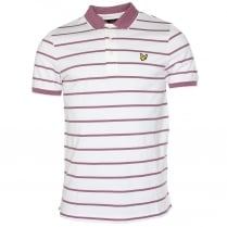 Lyle & Scott Birdseye Stripe Polo T-Shirt