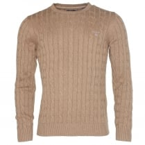 Gant Cotton Cable Crew Sweater