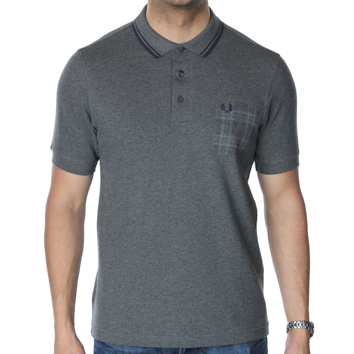 Fred perry m1386 needle punch pocket polo t shirt fred for Polo t shirts with pocket online