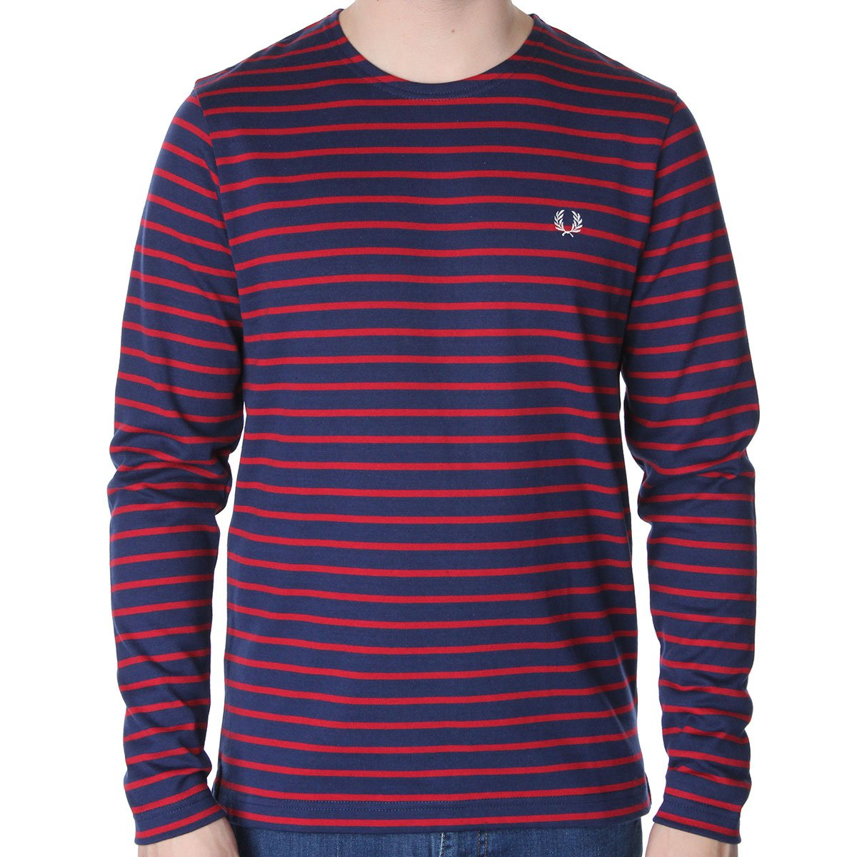 Fred perry m1208 long sleeve striped t shirt various for T shirt sprüche m nner
