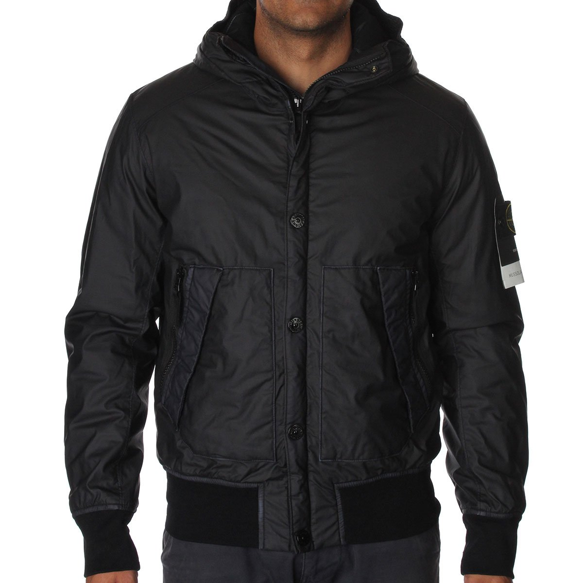 stone island 44b30 mussola gommata jacket stone island from the menswear site uk. Black Bedroom Furniture Sets. Home Design Ideas