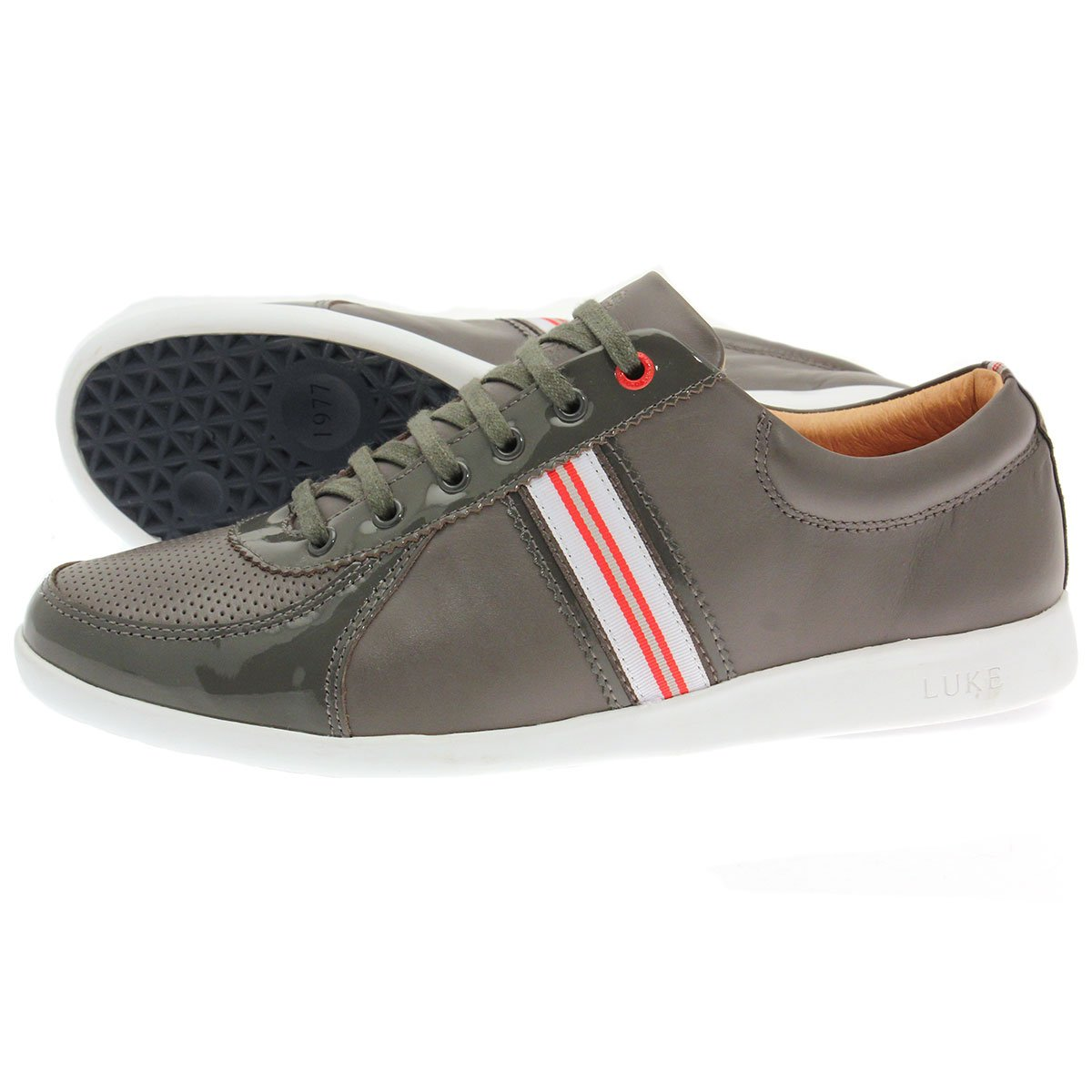 Vitric Trainers b Luke > Mens trainers > Premium quality > Knit mesh > White rubber sole > Red colour panel at heel > Luke branding > Upper: textile, synthetic.