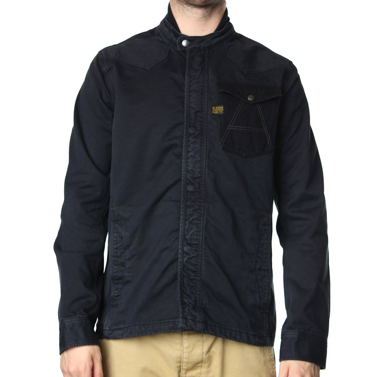 g star a crotch overshirt jacket g star from the menswear site uk. Black Bedroom Furniture Sets. Home Design Ideas