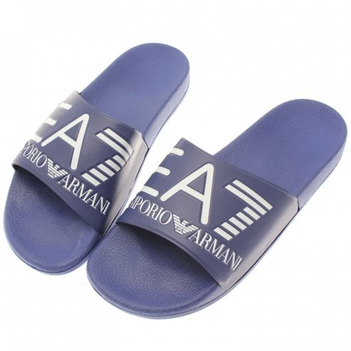 22011691007439 EA7 Sliders - EA7 from The Menswear Site UK