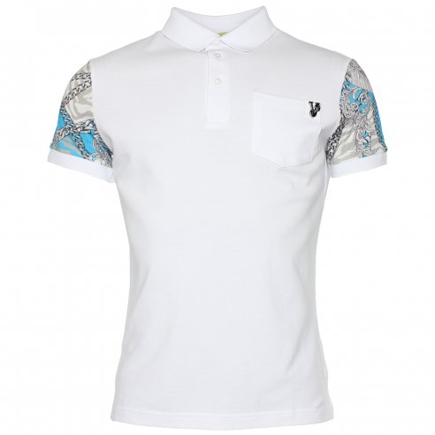 Versace Jeans Slim Pocket Polo T-Shirt - Versace Jeans from The Menswear  Site UK da7fbe29204