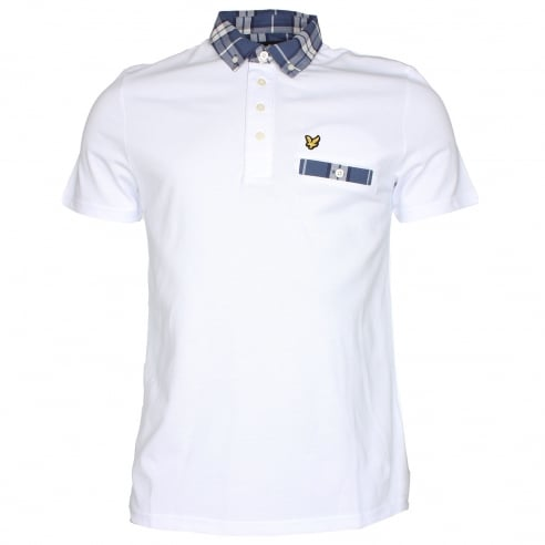 Lyle & Scott SP512V Check Collar Polo