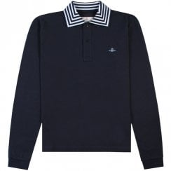 Vivienne Westwood Striped Collar Long Sleeve Polo
