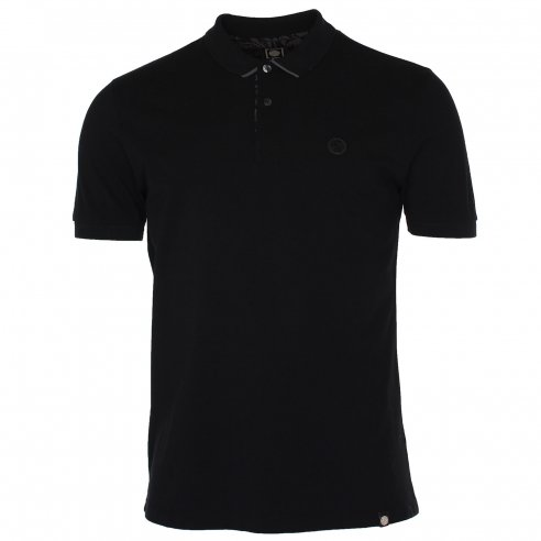 Pretty Green Under Collar Print Polo T-Shirt