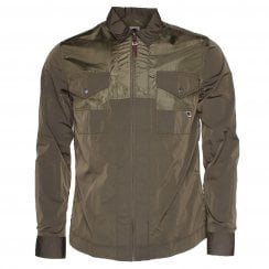 Pretty Green Zip Thru Over Shirt